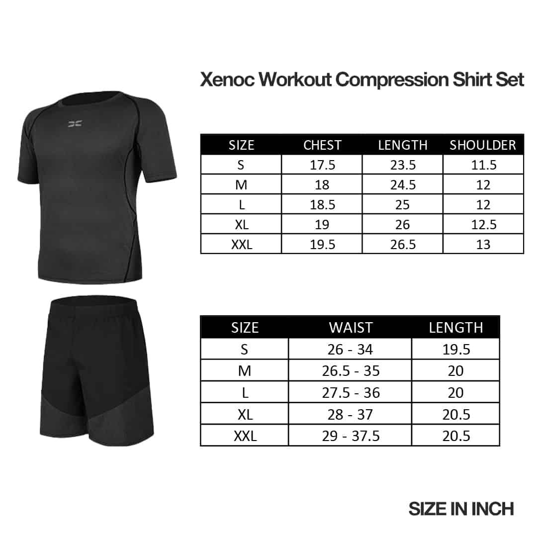 Xenoc Workout Compression Shirt Set, baju suit, cycling, fitness