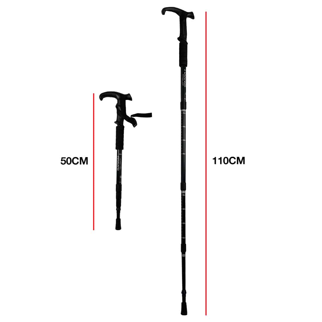 CAMPSOR Anti Shock Collapsible Hiking Stick 1