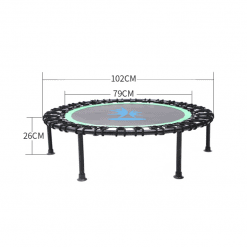 Fitness Trampoline with Adjustable Handle Bar 3