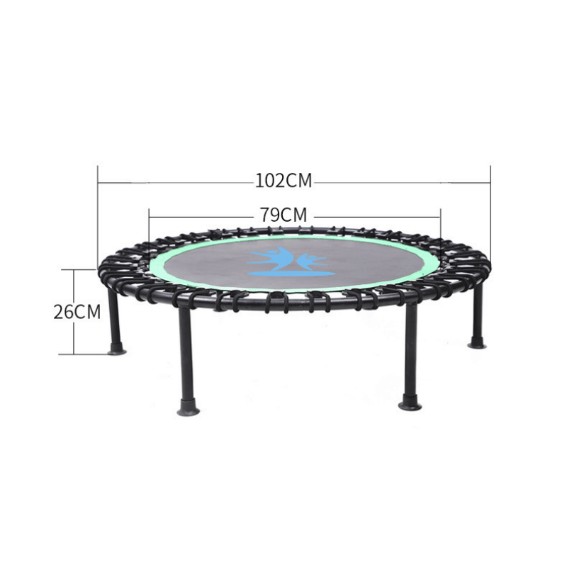 trampoline, bounce trampoline, easy install trampoline, fitness trampoline, adjustable handle trampoline