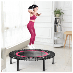 Fitness Trampoline with Adjustable Handle Bar 5