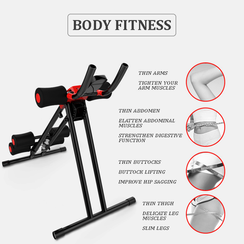 Adjustable Home Abdominal Trainer, abdominal trainer, six pack exercise at home, six pack abs workout, ab stimulator, ab workout, muscle trainer, abs muscle trainer, muscle fitness trainer, foldable muscle trainer, abdominal trainer