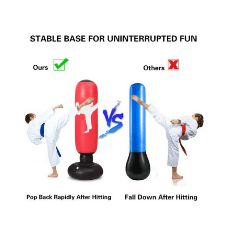 5ft Inflatable Standing Punching Bag, punching bag stand, boxing bag, boxing bag stand, boxing punching bag, punching bag Malaysia
