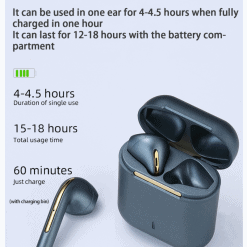 J18 TWS Earbuds with Wireless Charging Case 2