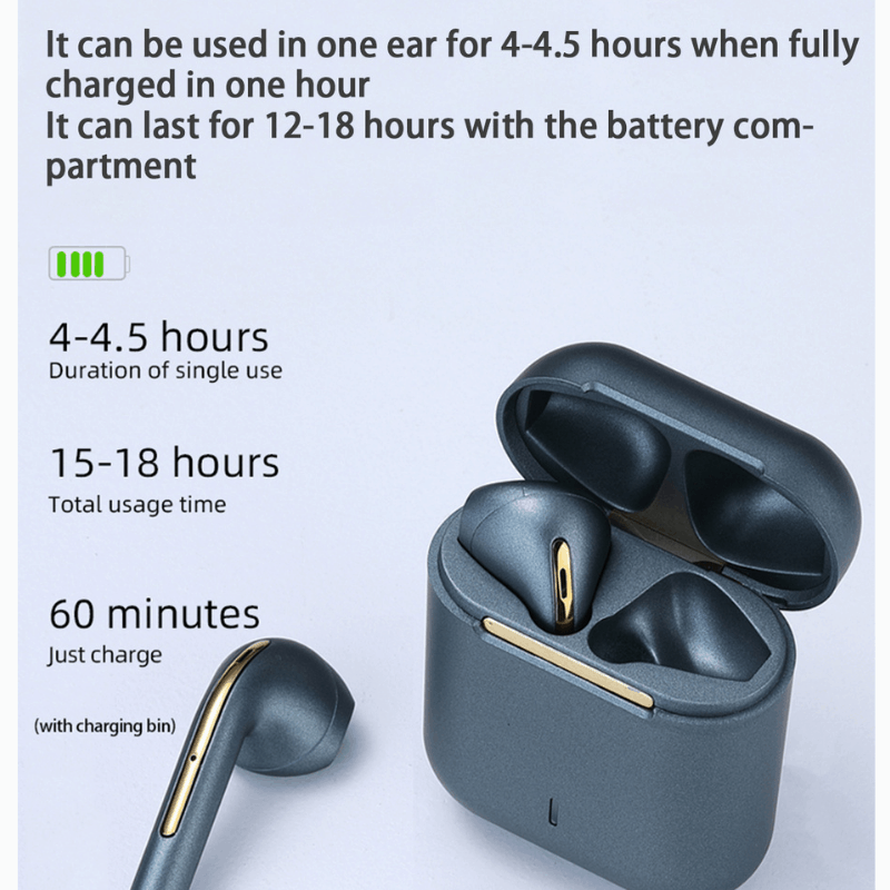 J18 TWS Earbuds with Wireless Charging Case, earbuds, wireless earbuds, wireless earphones, earphones, bluetooth earbuds, beast earbuds