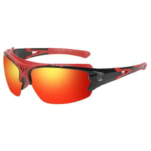 TBF HD Polarized Sports Sunglasses Fire Red