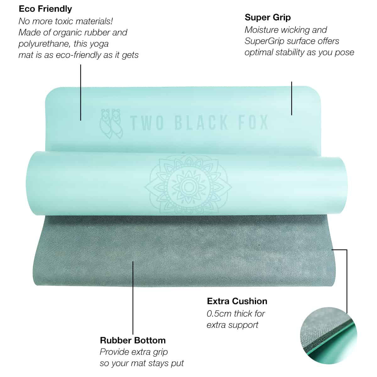 TBF Supergrip Yoga Mat with Alignment Line 5 2