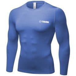 Tahan Long Sleeve Compression Shirt LightBlue