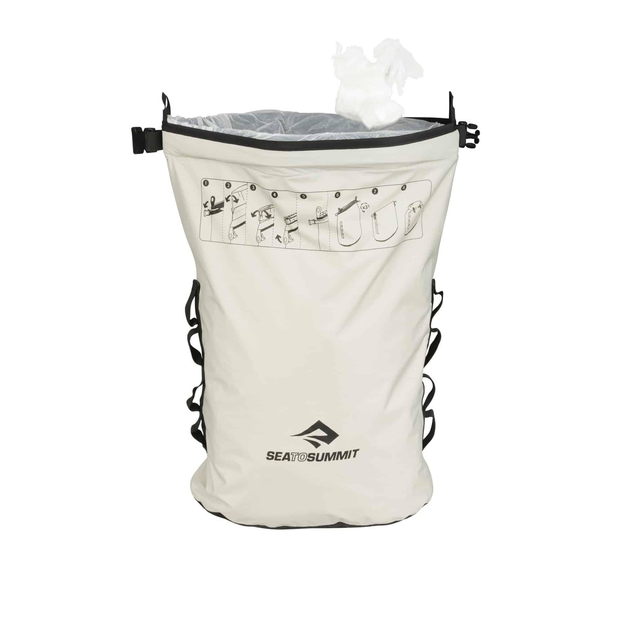 trash dry sack, trash bag, trash pouch, beg sampah