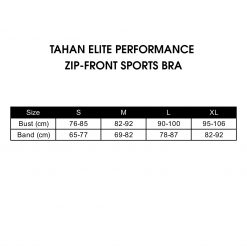 TAHAN Elite Performance Zip-Front Sports Bra , sports bra with adjustable velcro strap, sports bra malaysia, high impact sports bra, best sports bra
