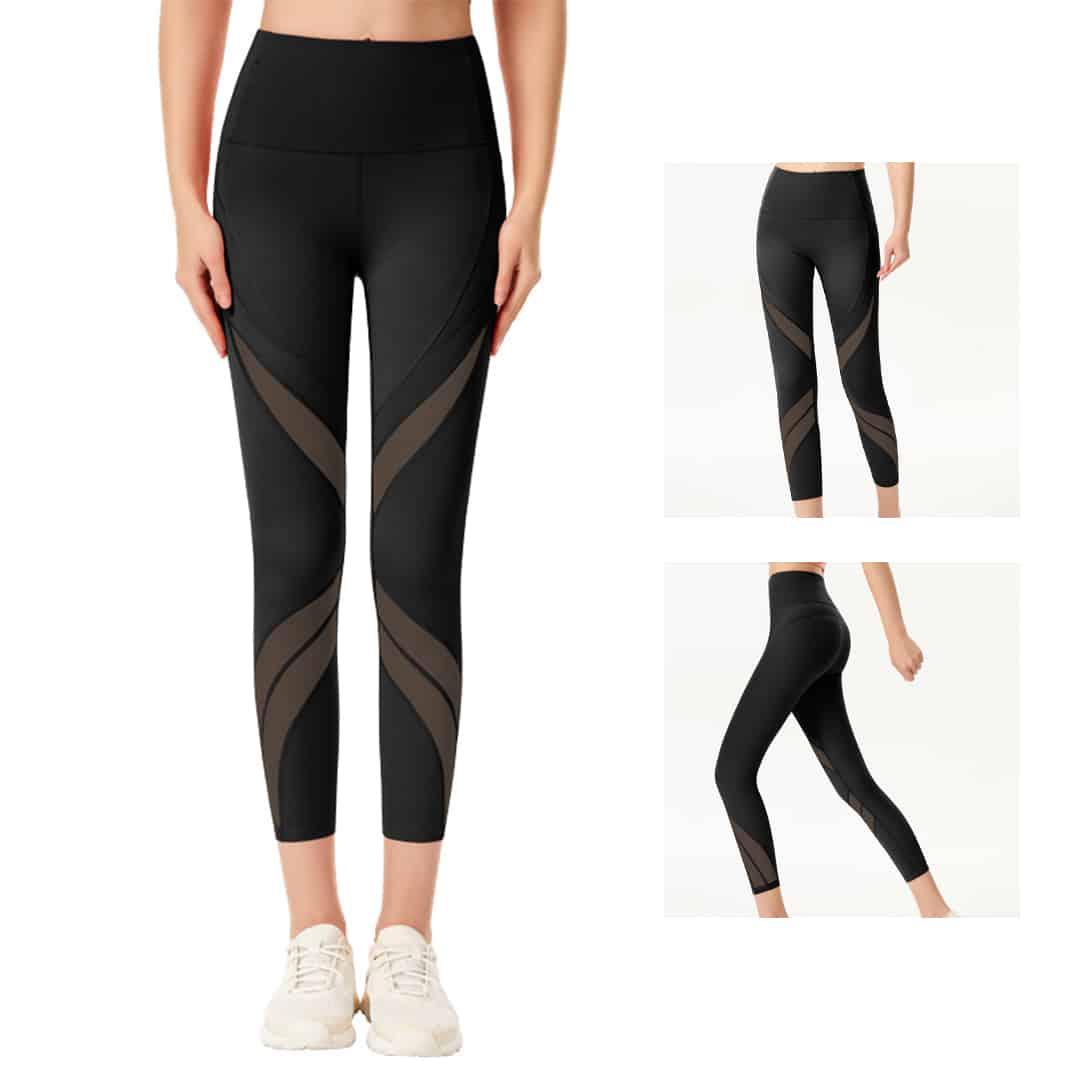 TAHAN Quarter Length High Waist Legging, TAHAN Booty Lift Gym Legging, high waist legging, leggings, gym leggings, sports leggings, stretchy leggings, slim fit leggings