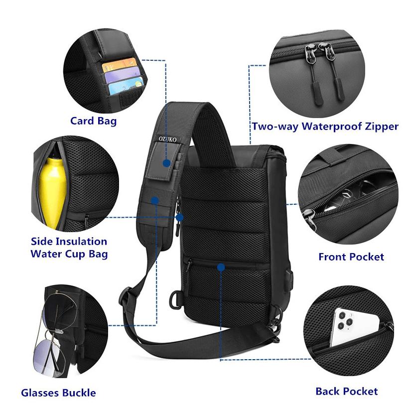 casual daypack, best daypack, best daypack malaysia, backpack single strap, 1 strap backpack