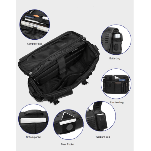 OZUKO Oxford Messenger Bag 1