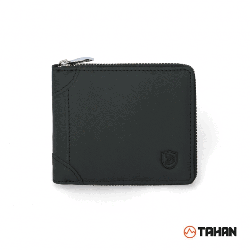 RFID Blocking Leather Zip Wallet 10
