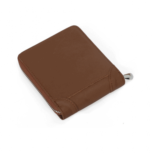 RFID Blocking Leather Zip Wallet 5
