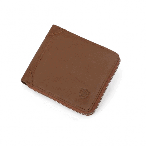 RFID Blocking Leather Zip Wallet 6