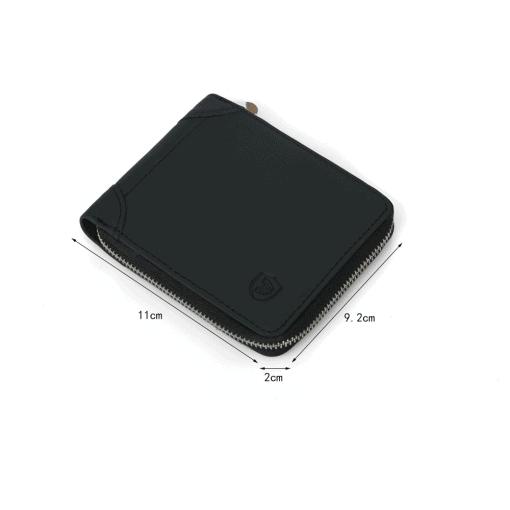 RFID Blocking Leather Zip Wallet 7