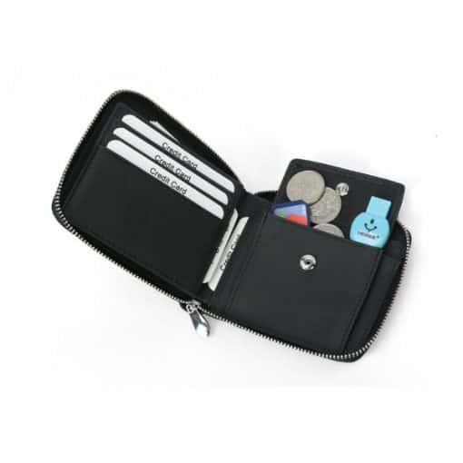 TAHAB RFID Blocking Leather Zip Wallet 1