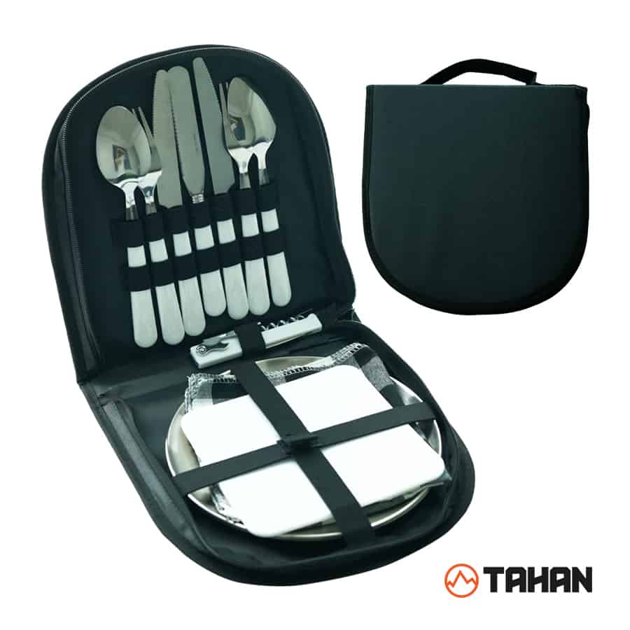 TAHAN Stainless Steel Portable Cutlery Set, portable cutlery, travel utensil set with casing, portable cutlery set with case, travel utensils with case,cutlery set portable