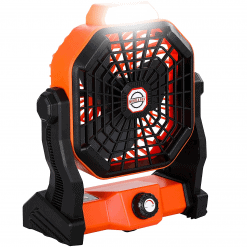 X2 Rechargeable Camping Fan with LED Lantern 1