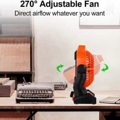 X2 Rechargeable Camping Fan with LED Lantern 6