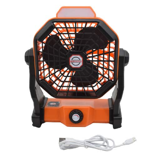 X2 Rechargeable Camping Fan with LED Lantern 8