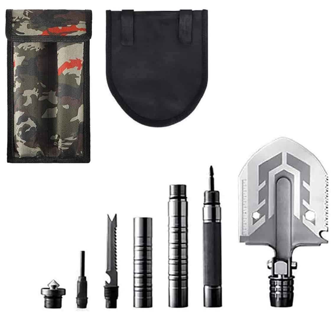 15-in-1 Tactical Survival Shovel, tactical shovel, best tactical shovel, survival shovel multi tool, camping shovel multi tool