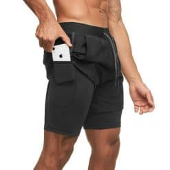 Men's 2-in-1 Running Shorts with Liners, boardshorts, board shorts, beachwear, beach shorts, swim shorts, short pants, boxer, spendex