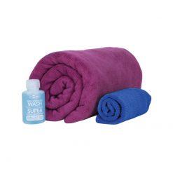 SEATOSUMMIT Tek Towel Wash Kit M Berry