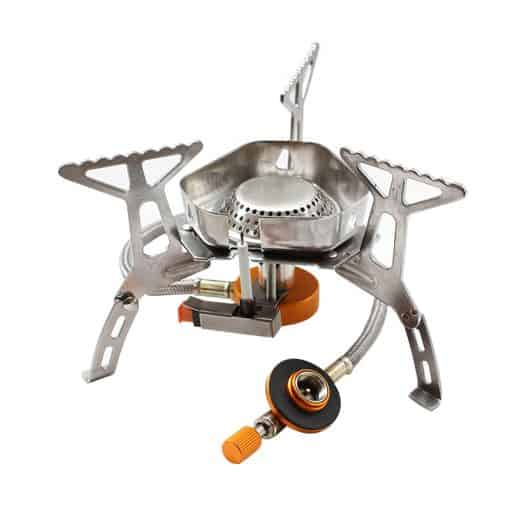 Windproof Portable Gas Stove with Piezo Ignitor 3